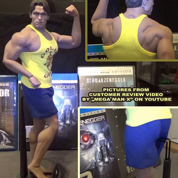 Phicen M34 collectible action figure doll in 1 6 scale sports clothing set inspired by Arnold Schwarzenegger bodybuilding docudrama film Pumping Iron 1977.png