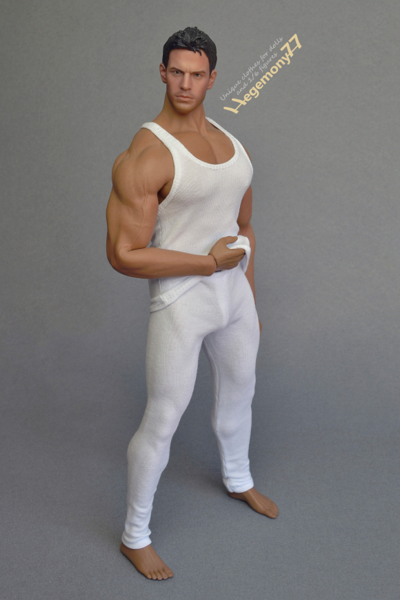1 6 scale XXL white leggings and tank top vest on Phicen M34 flexible seamless muscular male figure doll body 23.JPG