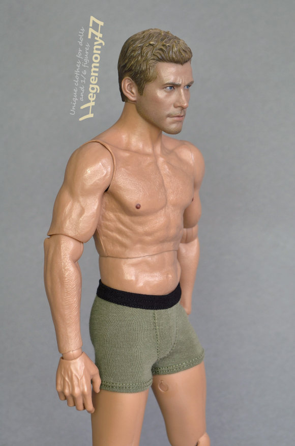 Hot Toys TTM 19 action figure in 1 6 scale olive green trunks boxer briefs men's underwear.JPG