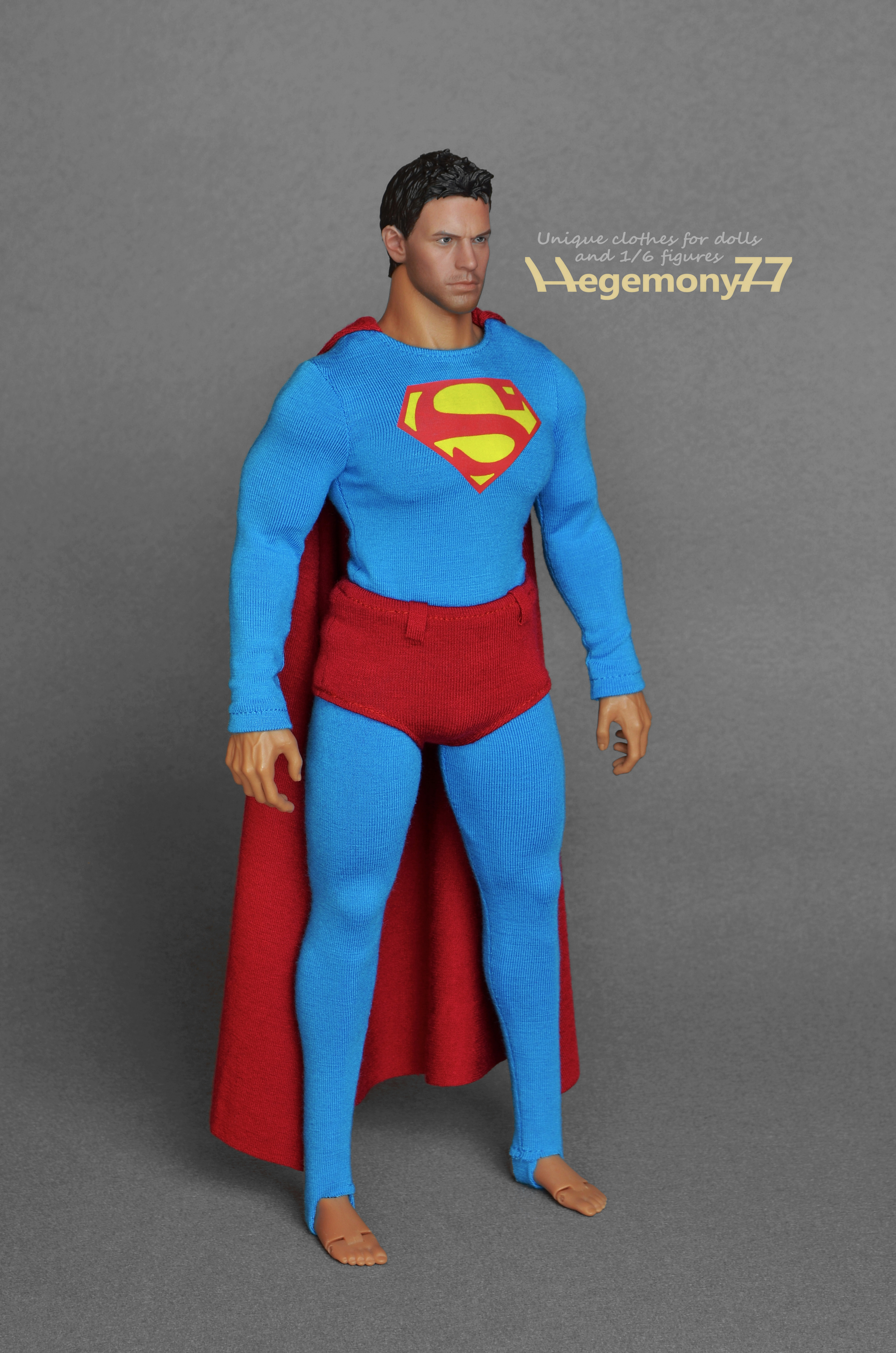 Hot Toys TTM 20 advanced muscular action figure body size Superman costume parts inspired by George Reeves Superman from the 1950s television program - long ...  sc 1 st  Hegemony77 clothes for 1/6 scale action figures and fashion dolls ... & Hot Toys TTM 20 advanced muscular action figure body size Superman ...