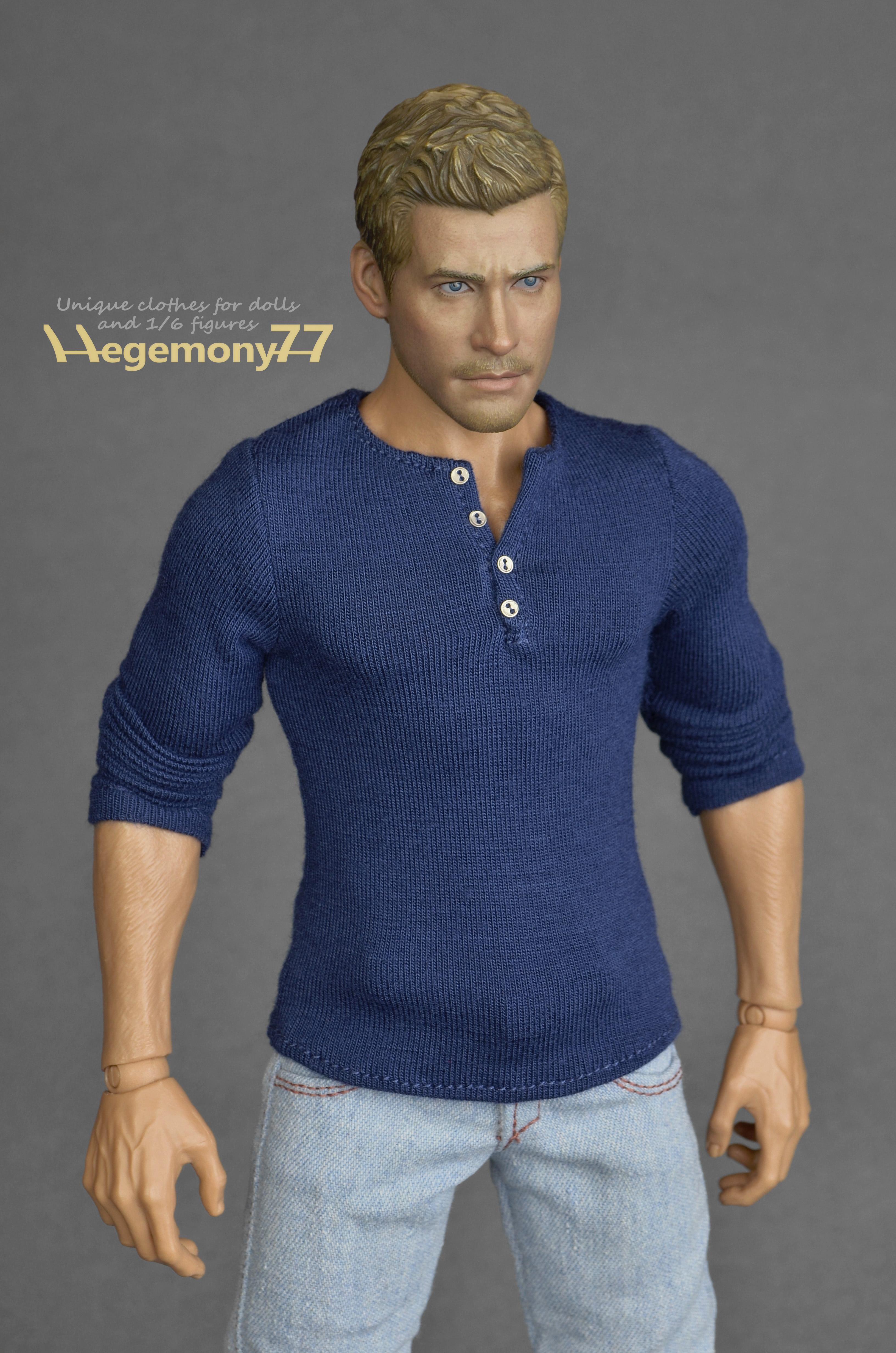 Sixth Scale Henley Shirt Inspired By Uncharted 4 A Thief S End